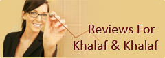 Reviews For Khalaf & Khalaf